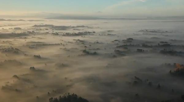 Chasseur d'eau dans les nuages